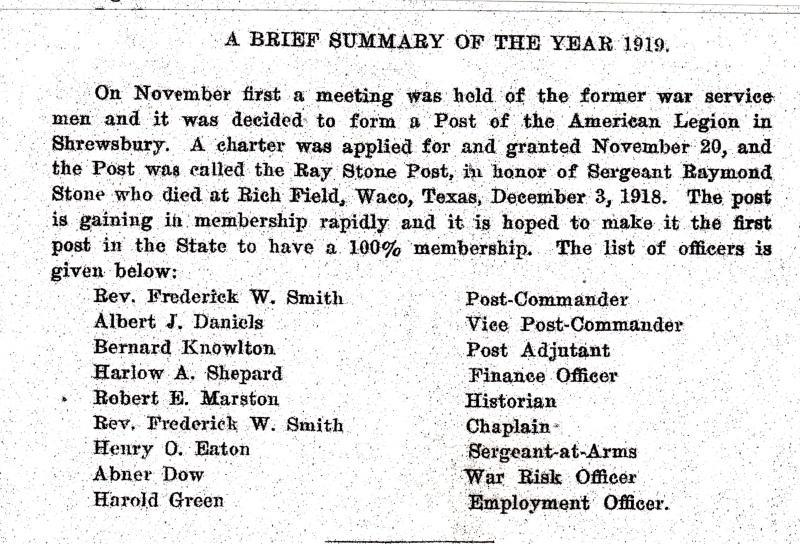 1919 Town Report