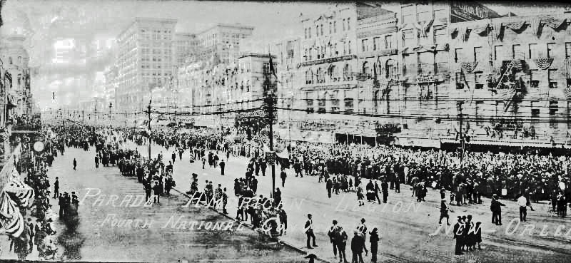 American Legion Convention New Orleans La 1922. Photo found in Post archieves showing the American Legion Parade down Canal Street, New Orleans La in 1922.