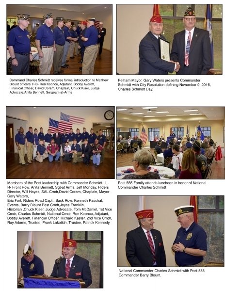 National Commander Charles Schmidt Visits Matthew Blount Post 555