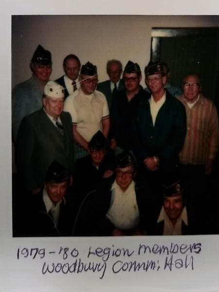 Woodbury American Legion Post 501 Members in 1979/1980