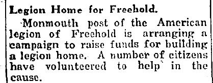 Freehold Needs a Legion Home