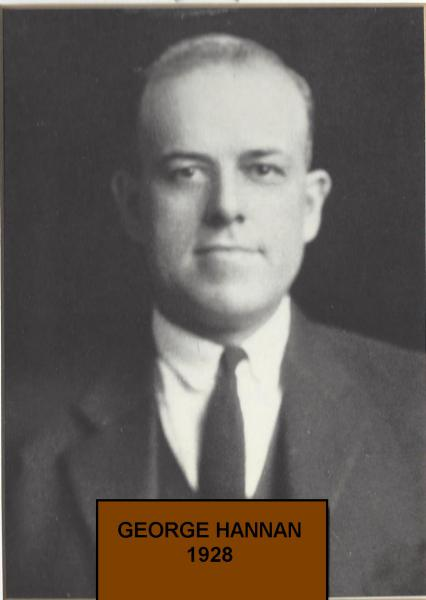 George Hannon takes over in 1928