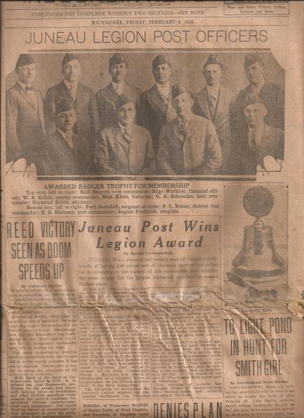 Juneau Post Wins Legion Award