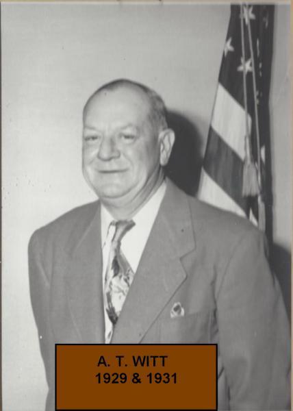 A. T. Witt Commander in 1929