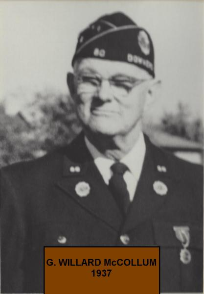 G. W. McCollum , Post 80 moves to a new home,