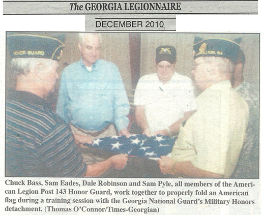 Post 143 Honor Guard Trains with Georgia National Guard Military Honors Detachment