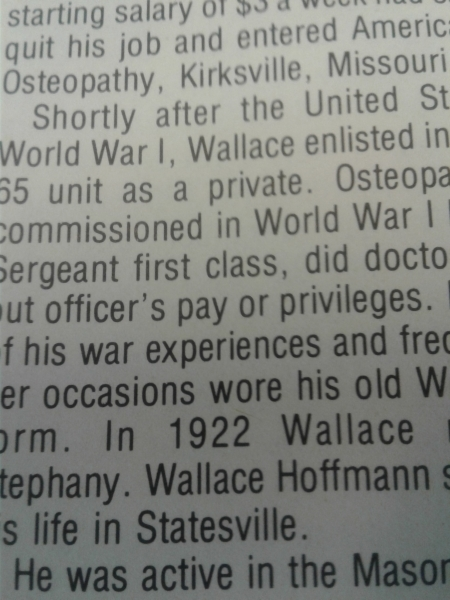 Founder and Osteopath S. Wallace Hoffman enlists in the Army