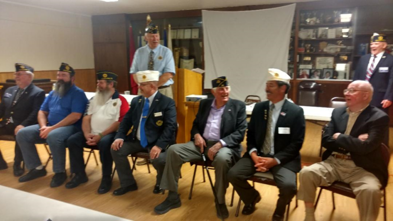 Post 15 Past and present Commanders Gather