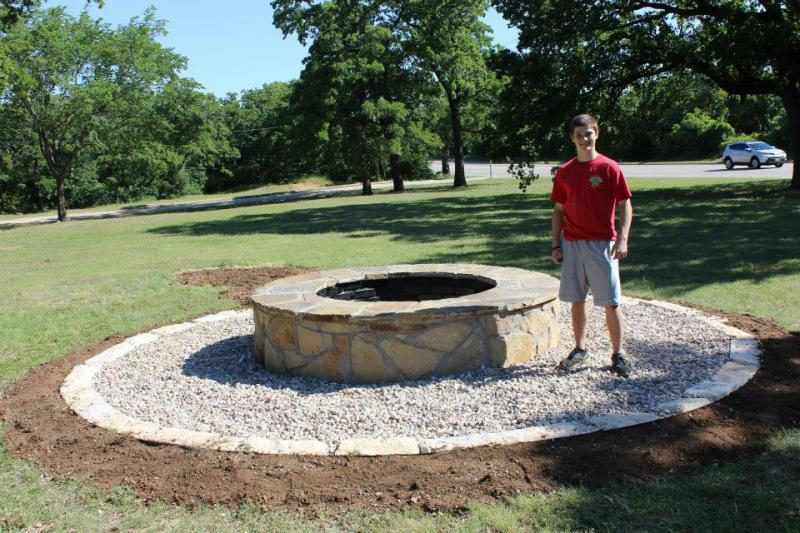 Trey Arnold's Post 379 Flag Retirement Pit Named the 2015 Longhorn Council Eagle Scout Project of the Year
