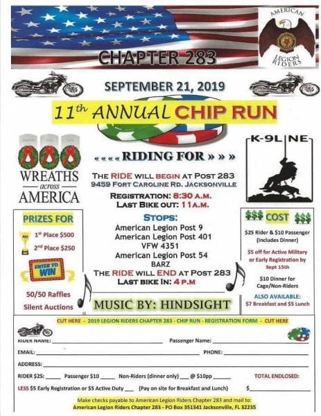 Chapter 283 11th Annual Chip Run