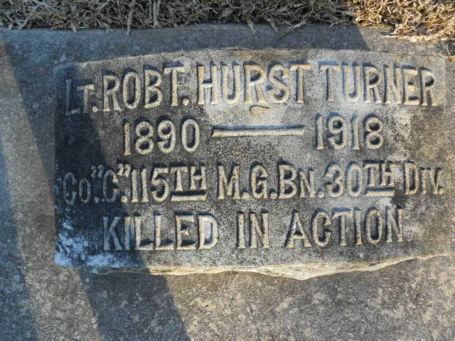 Our Namesake Robert Hurst Turner is killed by an artillery shell