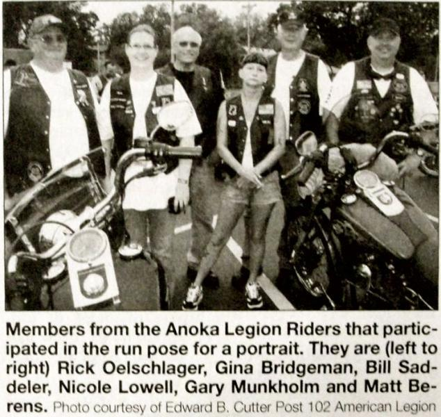 Anoka's American Legion Riders Host Kick-Off Party