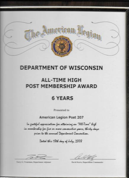 2008 Membership All-Time High 6 Years