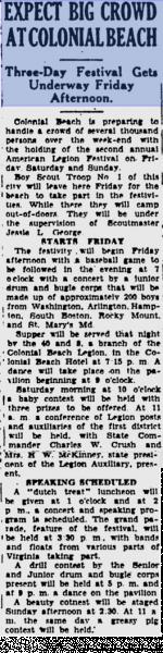 American Legion Festival 1937