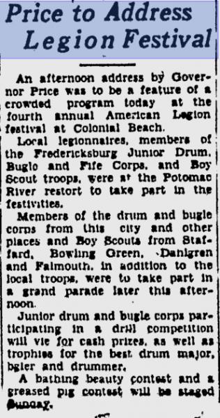 American Legion Festival 1939