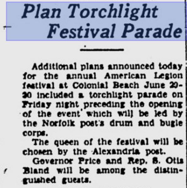 American Legion Festival 1940