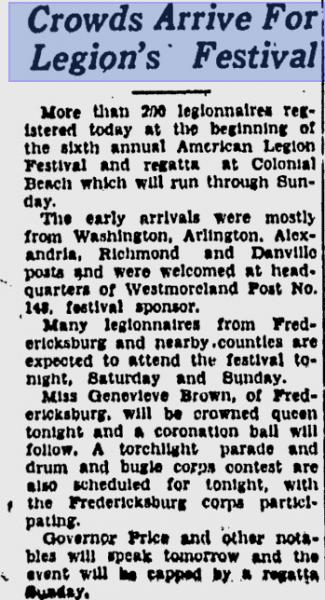 American Legion Festival 1941