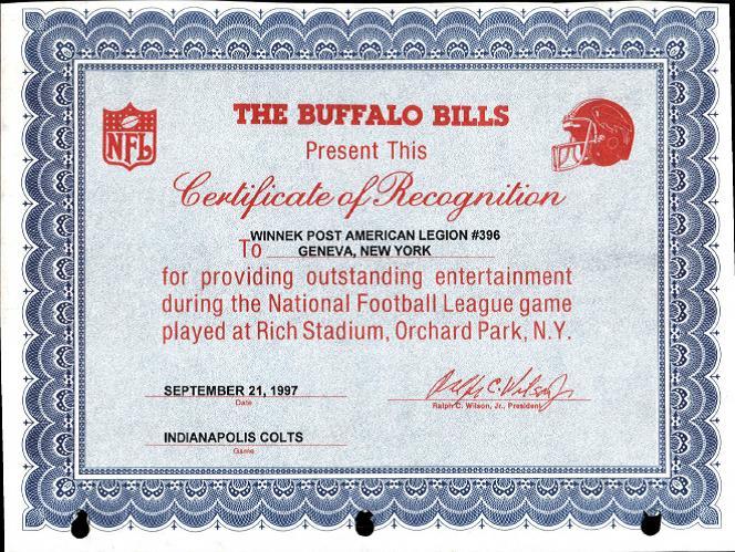 Winnek Color Guard At Buffalo Bills Stadium