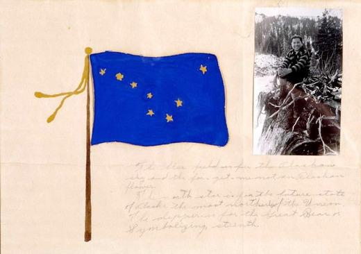 Seward Boy Designs Alaska State Flag