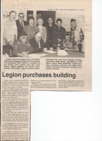 Legion purchases building