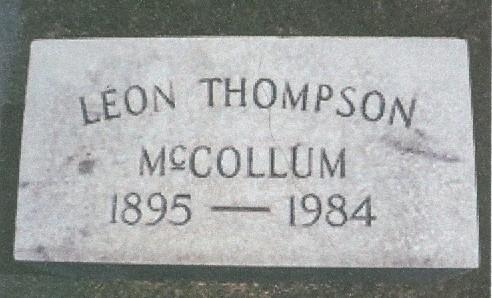 Charter Member Leon Thompson McCollum