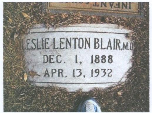 Charter Member Dr. Leslie Lenton Blair