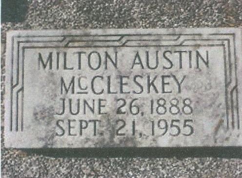 Charter Member Milton Austin McCleskey