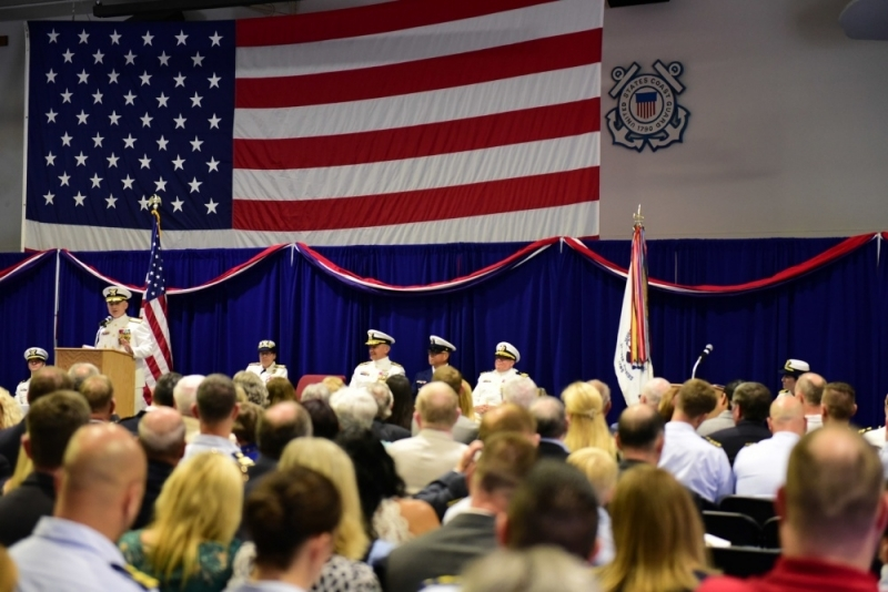 Coast Guard 13th District - Change of Command - Commander Houghton and Department Adjutant Horton