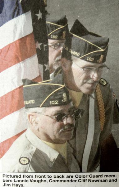 Color Guard Members Honor a Fellow Vietnam Veteran