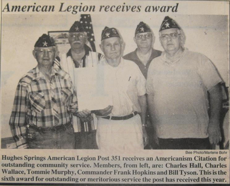 Americanism Citation For Outstanding Community Service