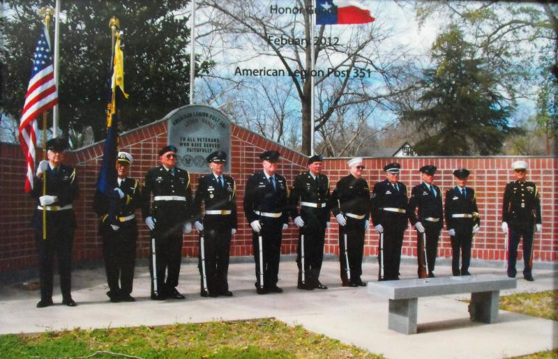 Post 351 Honor Guard At Veteran's Memorial 10 Years After Planning Began
