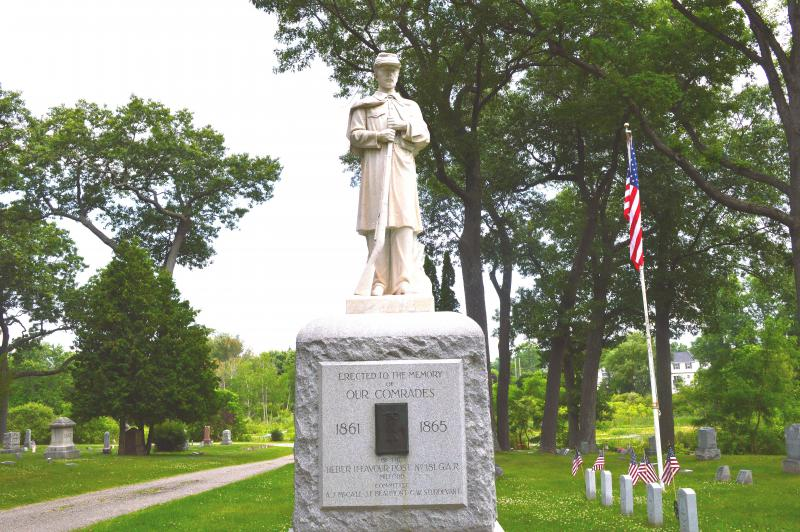 Dedication of Civil War Veterans Memorial