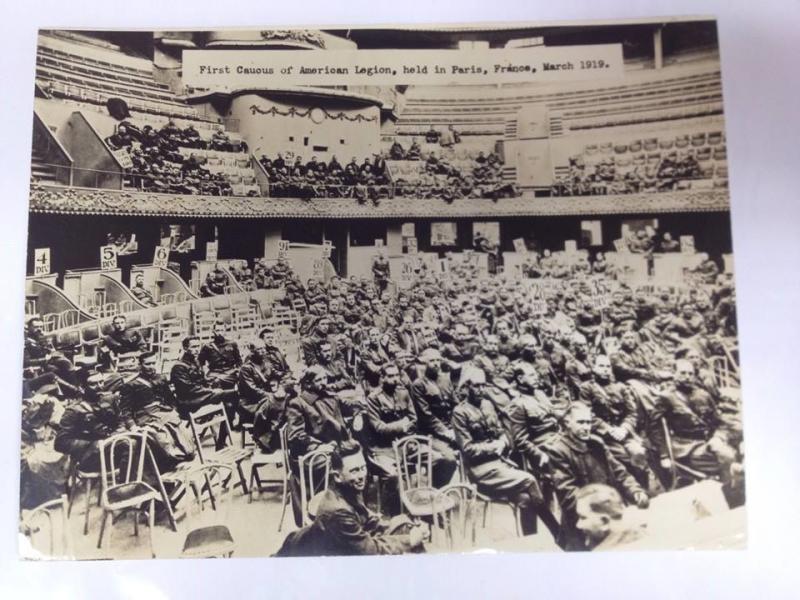 First Caucus of The American Legion, Paris, France. 1919.