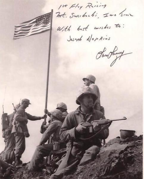 Photograph of First Flag Raising Mount Suribachi, Iwo Jima