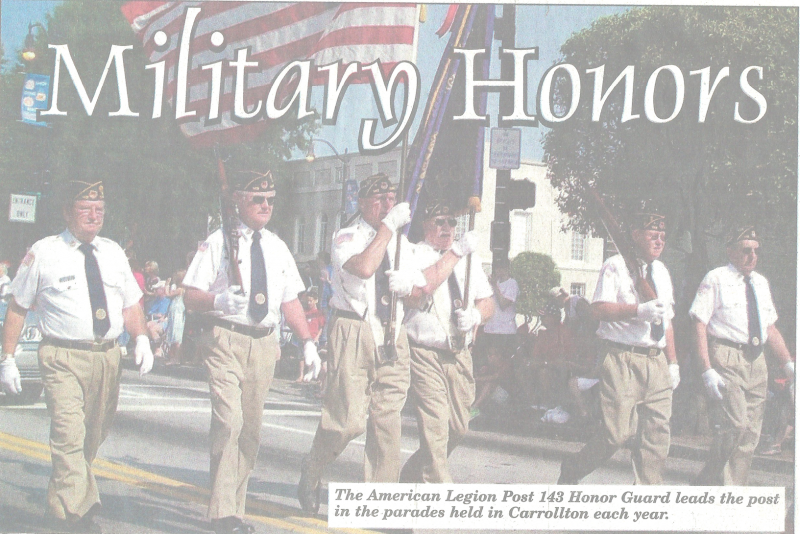 Post 143 Honor Guard Leads Carroll County Parades