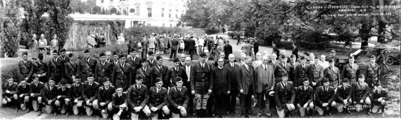 Newport's Drum Corps Meet President Hoover