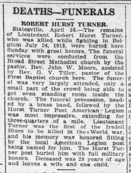 Hurst Turner obituary