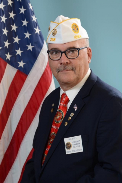Mike Etzel Elected as the 102nd Department of Iowa Commander