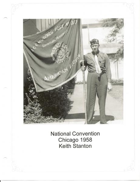 Post 287 History 1957 - 1959 as prepared by Keith K. Stanton