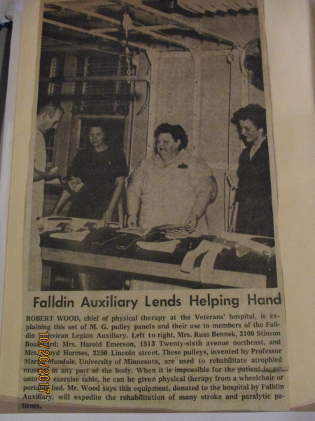 FALLDIN AUXILIARY LENDS A HELPING HAND