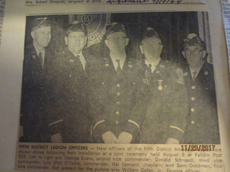 FIFTH DISTRICT LEGION OFFICERS