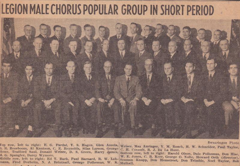Legion Male Chorus Forms