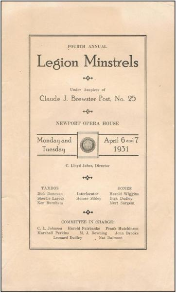 First Legion Minstrel Show