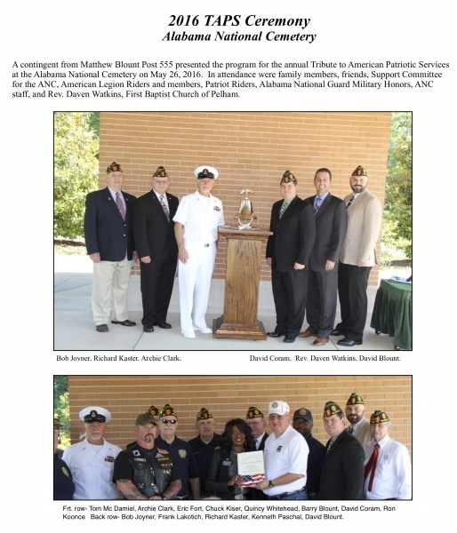 2016 TAPS Ceremony Alabama National Cemetery