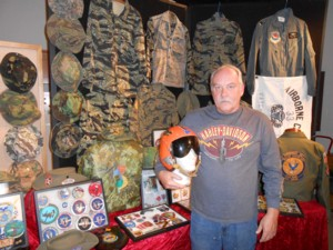 Display of Military items & collectibles