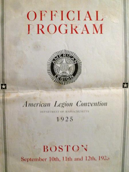 1925 Minutes...DEPT CONVENTION IN BOSTON
