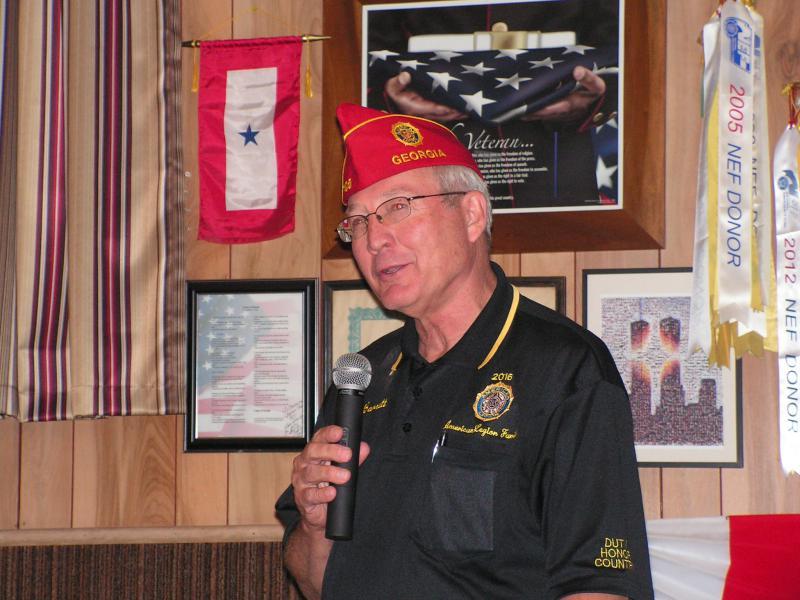 American Legion National Commander Dale Barnett (2015 - 2016) Visits Post 464