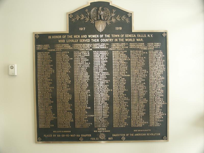 Memorial Tablet Dedicated