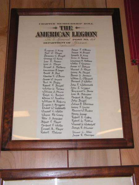 Post 464 Charter Members Organize
