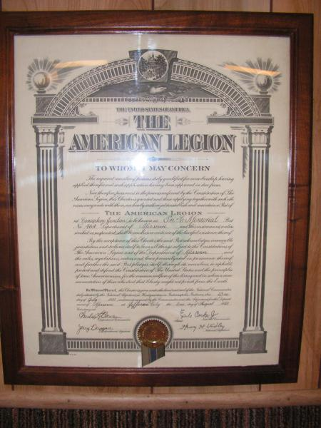 Post 464 Receives Permanent Charter